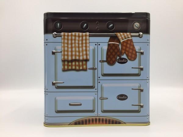 "Design Geschenk / Schmuck / Deko Box ""Backofen"", hellblau, Metall, B106 x H188 x L183 mm"